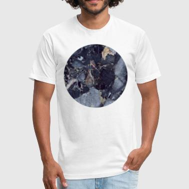 AD Blue Moon Marble - Fitted Cotton/Poly T-Shirt by Next Level