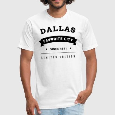 City Dallas Favorite City Dallas - Fitted Cotton/Poly T-Shirt by Next Level