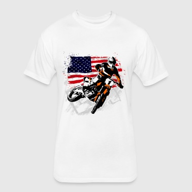 Motocross - Moto Cross - MX - Supercross - SX - Fitted Cotton/Poly T-Shirt by Next Level