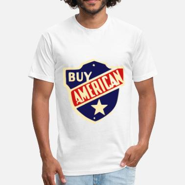 Usa Shield USA Shield Buy American - Fitted Cotton/Poly T-Shirt by Next Level