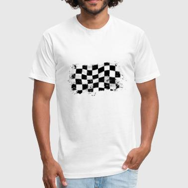 Racing Flag - Fitted Cotton/Poly T-Shirt by Next Level
