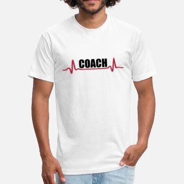Basketball Heartbeat Coach - Fitted Cotton/Poly T-Shirt by Next Level