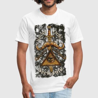 NOVUS ORDO SECLORUM - new order of the ages eye - Fitted Cotton/Poly T-Shirt by Next Level