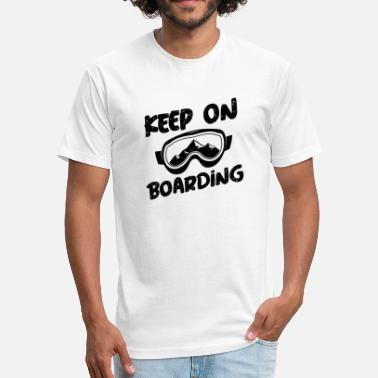 Resort Snowboarding Keep on Boarding - Fitted Cotton/Poly T-Shirt by Next Level