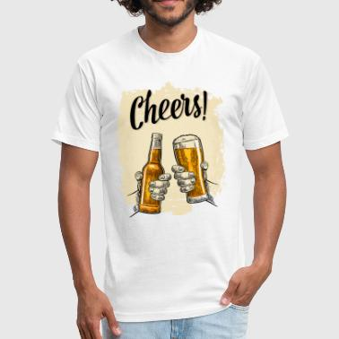 Cheerful Slogan CHEERS - Fitted Cotton/Poly T-Shirt by Next Level