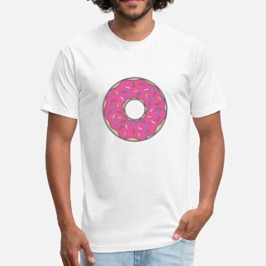 Cartoon Donuts Strawberry donut - Fitted Cotton/Poly T-Shirt by Next Level