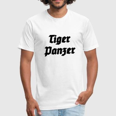 Tigerpanzer - German Tiger Tank - Fitted Cotton/Poly T-Shirt by Next Level