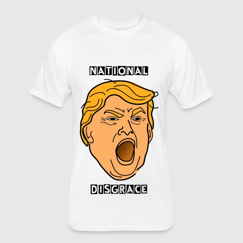 Yelling Angry Trump - Fitted Cotton/Poly T-Shirt by Next Level