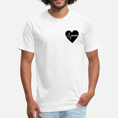 The Bpm Festival 200 BPM Black Heart - Fitted Cotton/Poly T-Shirt by Next Level