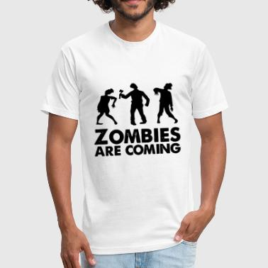 Latin America Jokes zombies are coming - Fitted Cotton/Poly T-Shirt by Next Level