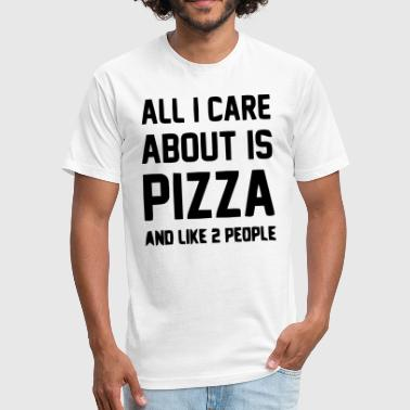 Pizza Boy Pizza - Fitted Cotton/Poly T-Shirt by Next Level