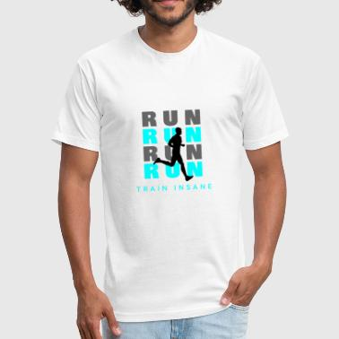Run Run Run - Fitted Cotton/Poly T-Shirt by Next Level