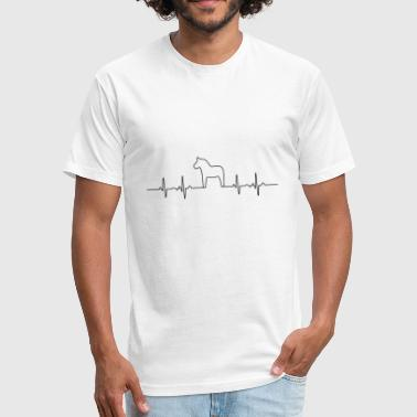 HEARTBEAT HORSE - Pulse heart rate LOVE - Fitted Cotton/Poly T-Shirt by Next Level