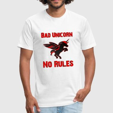 Softies Bad Unicorn - Fitted Cotton/Poly T-Shirt by Next Level