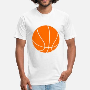 Orange Basketball Player Ball Orange Basketball - Fitted Cotton/Poly T-Shirt by Next Level