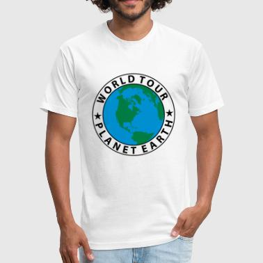 World-tour World Tour - Fitted Cotton/Poly T-Shirt by Next Level