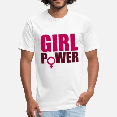 Girly Symbols & Shapes symbol venus girl power text saying cool female wo - Fitted Cotton/Poly T-Shirt by Next Level