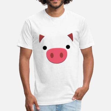 Zhu year 2019 pig - Fitted Cotton/Poly T-Shirt by Next Level