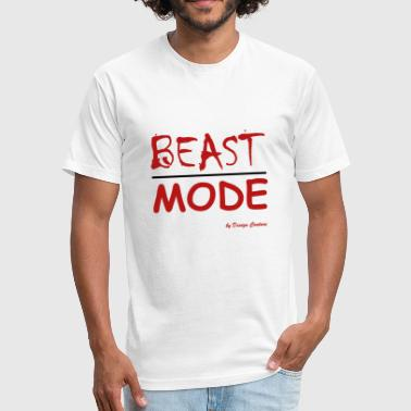 MODE, BEAST-RED - Fitted Cotton/Poly T-Shirt by Next Level