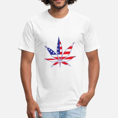 American Weed American Weed - Fitted Cotton/Poly T-Shirt by Next Level