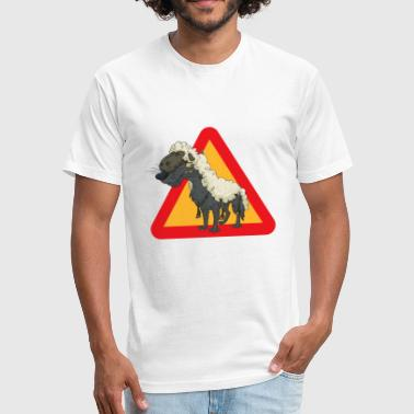 Wolf Sheep - Fitted Cotton/Poly T-Shirt by Next Level
