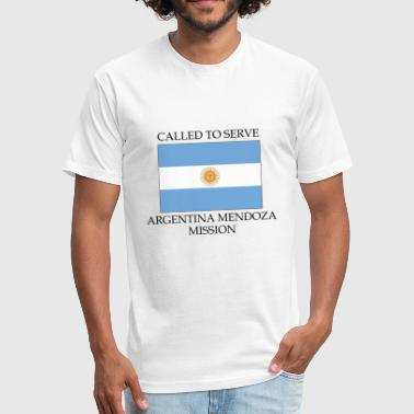 Argentina Mendoza LDS Mission Called to Serve Fl - Fitted Cotton/Poly T-Shirt by Next Level