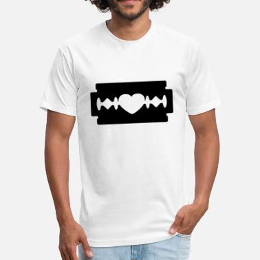 Razor Blade Emo razor blade heart - Fitted Cotton/Poly T-Shirt by Next Level