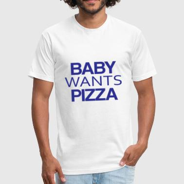 BABY PIZZA - Fitted Cotton/Poly T-Shirt by Next Level