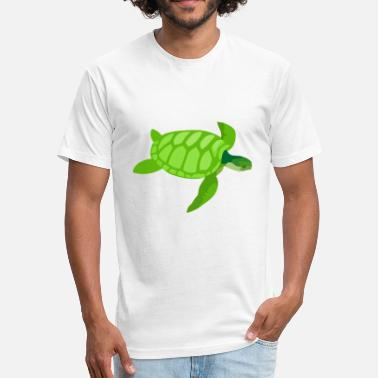 Green Sea Turtle Green Sea Turtle - Fitted Cotton/Poly T-Shirt by Next Level