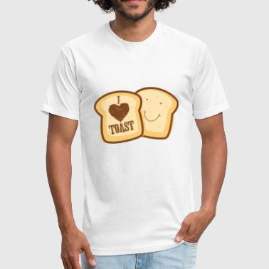 i love Toast Shirt - Fitted Cotton/Poly T-Shirt by Next Level