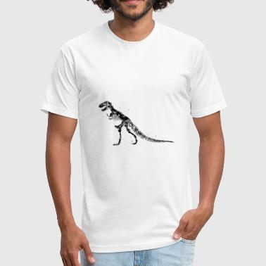T Rex Skeleton T-Rex Skeleton - Fitted Cotton/Poly T-Shirt by Next Level