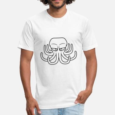Evil Octopus design evil octopus octopus cuttle cuttlefish squi - Fitted Cotton/Poly T-Shirt by Next Level