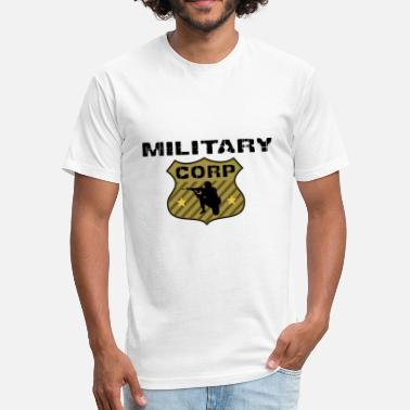 Military Print MILITARY CORP - Fitted Cotton/Poly T-Shirt by Next Level