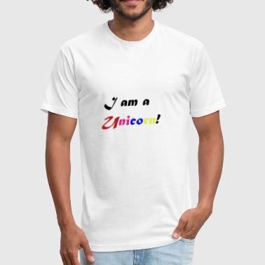 Yoga Horse Fart i am a Unicorn - Fitted Cotton/Poly T-Shirt by Next Level