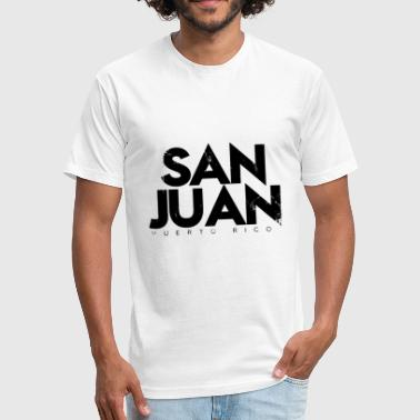 San Juan Puerto Rico - Fitted Cotton/Poly T-Shirt by Next Level