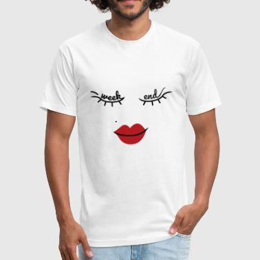Week End Kiss - Fitted Cotton/Poly T-Shirt by Next Level