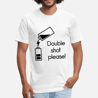 Double-shot double shot - Fitted Cotton/Poly T-Shirt by Next Level