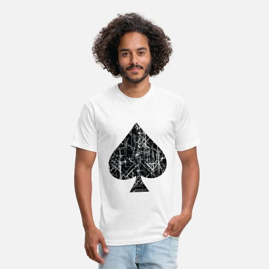 Spade T-Shirts - Spades Sign Design - Unisex Poly Cotton T-Shirt white