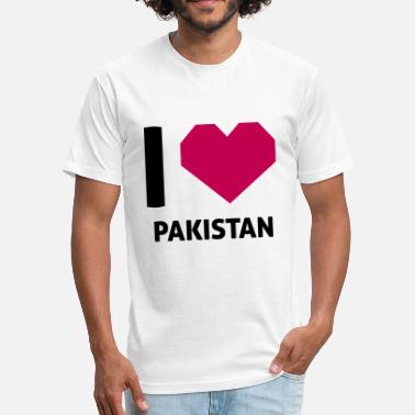 I Love Pakistan I Love Pakistan - Fitted Cotton/Poly T-Shirt by Next Level