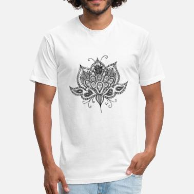 Black Lotus Lotus flower - Fitted Cotton/Poly T-Shirt by Next Level