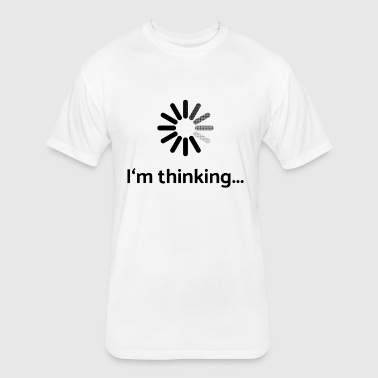 I am thinking | loading - Fitted Cotton/Poly T-Shirt by Next Level