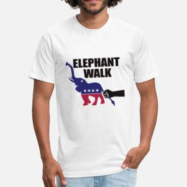 Elephant House Elephant Walk - Fitted Cotton/Poly T-Shirt by Next Level