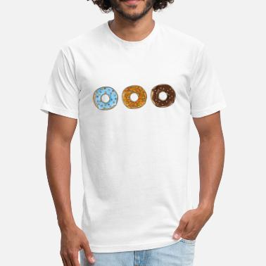 Donuts Donuts - Fitted Cotton/Poly T-Shirt by Next Level