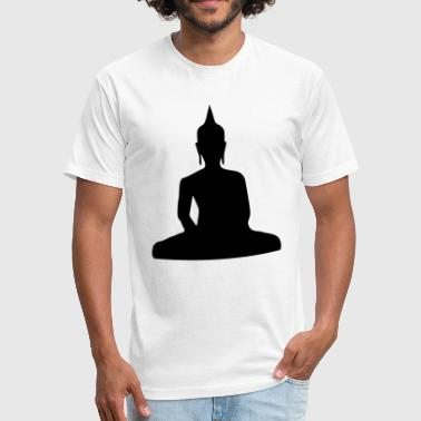 Sitting_Buddha_ - Fitted Cotton/Poly T-Shirt by Next Level