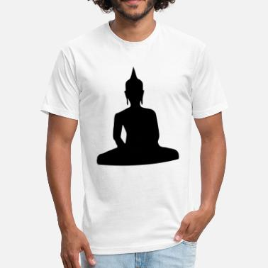 Paganism Sitting_Buddha_ - Fitted Cotton/Poly T-Shirt by Next Level