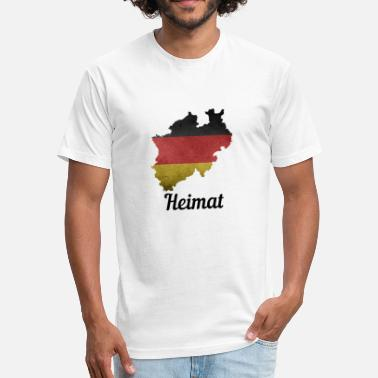 Nordrhein Nordrhein-Westfalen Deutschland Heimat - Fitted Cotton/Poly T-Shirt by Next Level