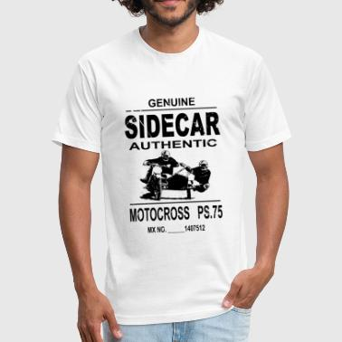 Sidecarcross - Motocross - Fitted Cotton/Poly T-Shirt by Next Level