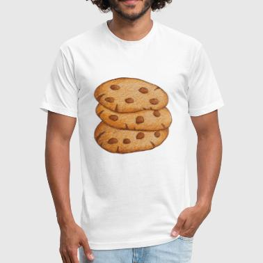 Chocolate Chip Cookie Chocolate Chip Cookies - Fitted Cotton/Poly T-Shirt by Next Level