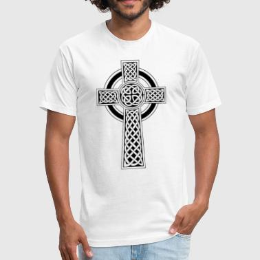 Celtic Cross - Fitted Cotton/Poly T-Shirt by Next Level