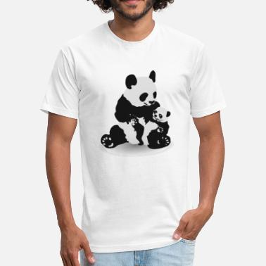 Cute Baby Panda Cute Panda And Baby Panda - Fitted Cotton/Poly T-Shirt by Next Level
